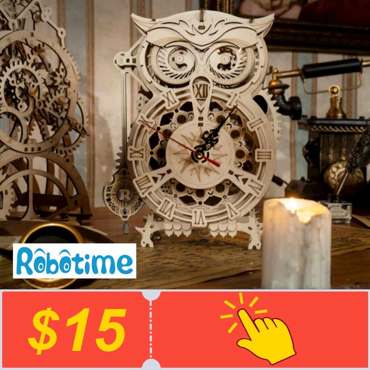 Получить купоны от Robotime Official Store на Алиэкспресс